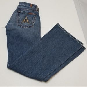 """7 for all Mankind Tag Size 25 """"A"""" Pockets Bootcut"""